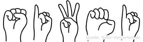Siwei in Fingersprache f�r Geh�rlose