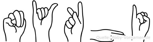 Nykhi in Fingersprache für Gehörlose