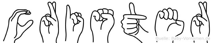 Crister in Fingersprache für Gehörlose