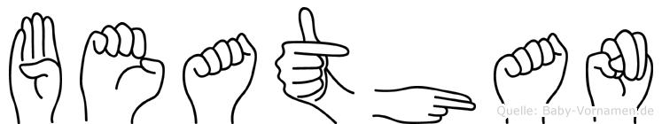 Beathan im Fingeralphabet der Deutschen Gebärdensprache