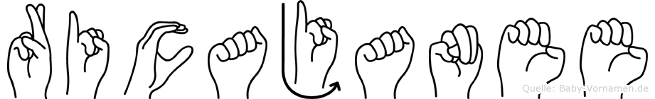 Ricajanee in Fingersprache für Gehörlose