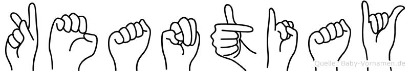 Keantiay im Fingeralphabet der Deutschen Gebärdensprache