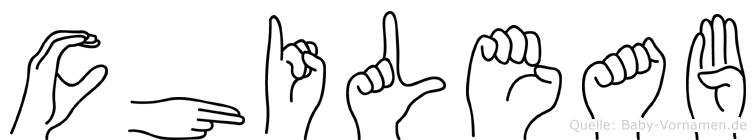 Chileab im Fingeralphabet der Deutschen Gebärdensprache
