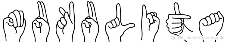 Mukulita im Fingeralphabet der Deutschen Gebärdensprache