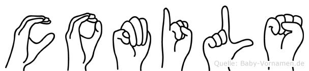 Comils im Fingeralphabet der Deutschen Gebärdensprache