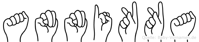 Annikka im Fingeralphabet der Deutschen Gebärdensprache