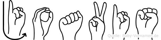 Joavis im Fingeralphabet der Deutschen Gebärdensprache