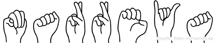 Marreya in Fingersprache für Gehörlose
