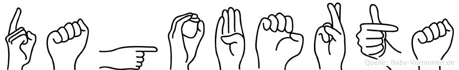 Dagoberta im Fingeralphabet der Deutschen Gebärdensprache