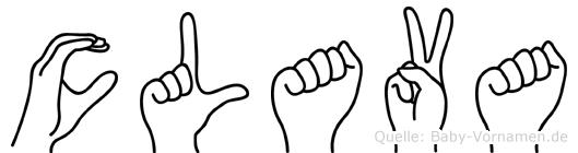 Clava in Fingersprache für Gehörlose