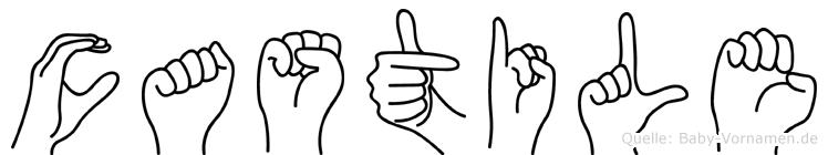 Castile in Fingersprache für Gehörlose
