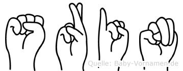 Srin in Fingersprache für Gehörlose