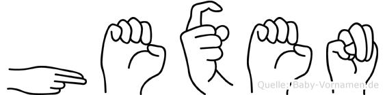 Hexen im Fingeralphabet der Deutschen Gebärdensprache