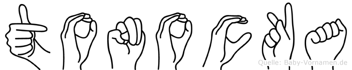 Tonocka im Fingeralphabet der Deutschen Gebärdensprache