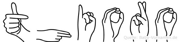Thioro in Fingersprache für Gehörlose
