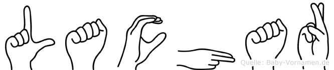 Lachar im Fingeralphabet der Deutschen Gebärdensprache