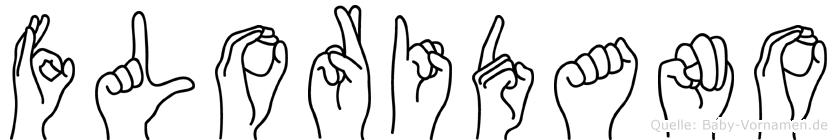 Floridano im Fingeralphabet der Deutschen Gebärdensprache