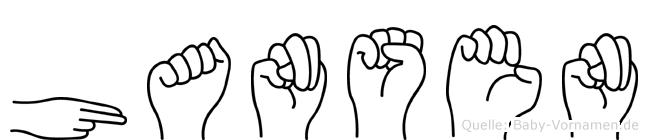 Hansen im Fingeralphabet der Deutschen Gebärdensprache
