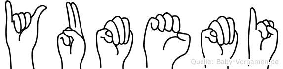 Yumemi im Fingeralphabet der Deutschen Gebärdensprache