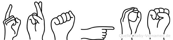 Dragos im Fingeralphabet der Deutschen Gebärdensprache