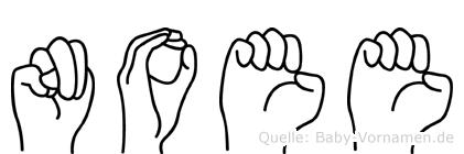 Noee in Fingersprache für Gehörlose