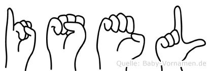 Isel in Fingersprache für Gehörlose