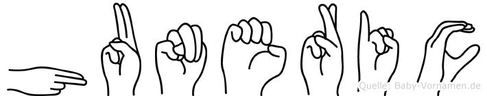 Huneric in Fingersprache für Gehörlose