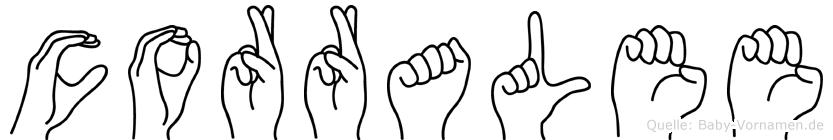 Corralee in Fingersprache für Gehörlose