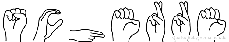 Scherre in Fingersprache für Gehörlose