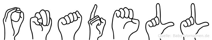 Onadell in Fingersprache für Gehörlose