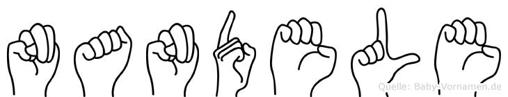 Nandele in Fingersprache für Gehörlose