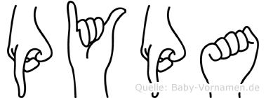 Pypa im Fingeralphabet der Deutschen Gebärdensprache
