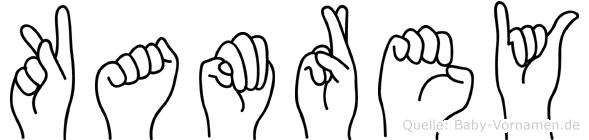 Kamrey im Fingeralphabet der Deutschen Gebärdensprache