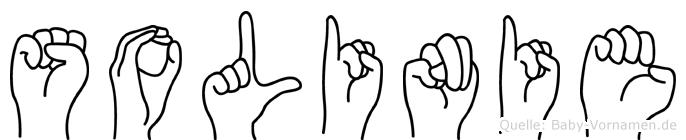 Solinie in Fingersprache für Gehörlose