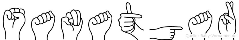 Sanatgar im Fingeralphabet der Deutschen Gebärdensprache