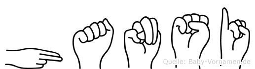 Hansi im Fingeralphabet der Deutschen Gebärdensprache