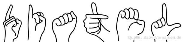 Diatel im Fingeralphabet der Deutschen Gebärdensprache