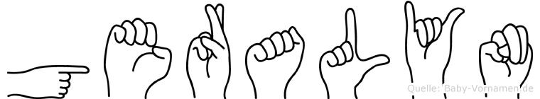 Geralyn in Fingersprache für Gehörlose