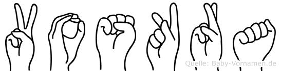 Voskra in Fingersprache für Gehörlose