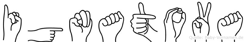 Ignatova in Fingersprache für Gehörlose