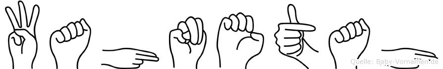 Wahnetah in Fingersprache für Gehörlose