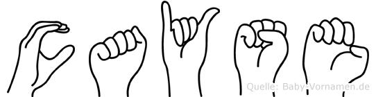 Cayse im Fingeralphabet der Deutschen Gebärdensprache