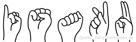 Isaku im Fingeralphabet der Deutschen Gebärdensprache