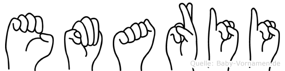 Emarii im Fingeralphabet der Deutschen Gebärdensprache