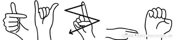 Tyzhe in Fingersprache für Gehörlose