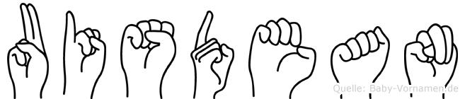 Uisdean in Fingersprache für Gehörlose