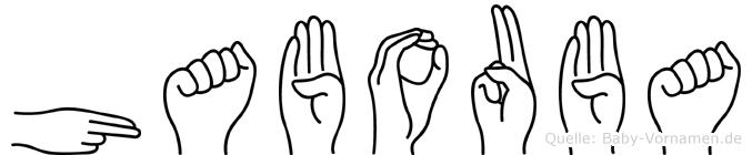 Habouba im Fingeralphabet der Deutschen Gebärdensprache