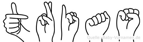 Trias in Fingersprache für Gehörlose
