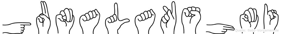 Gunalakshmi in Fingersprache für Gehörlose
