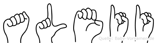Aleii im Fingeralphabet der Deutschen Gebärdensprache